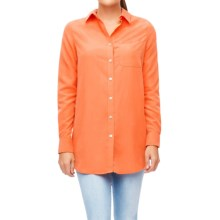 Foxcroft Solid Modal Tunic Shirt - Long Sleeve (For Women) in Orange Peel - Closeouts