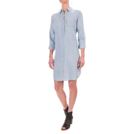 Foxcroft Solid TENCEL® Dress - 3/4 Sleeve (For Women) in Bluewash - Closeouts