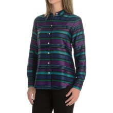 Foxcroft Striped Blouse - Long Sleeve (For Women) in Multi - Closeouts