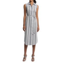 Foxcroft Striped Shirtdress - Sleeveless (For Women) in Navy - Overstock