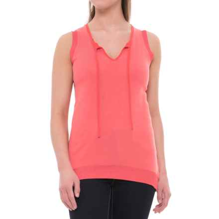 Foxcroft Sylvia Knit Shirt - Sleeveless (For Women) in Rose Quartz - Overstock