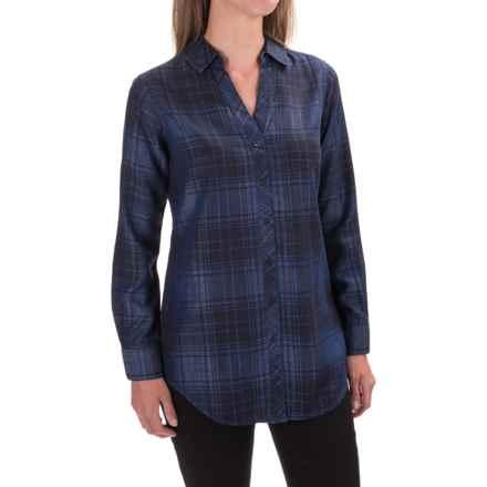 Foxcroft Tartan Tunic Shirt - TENCEL®, Long Sleeve (For Women) in Indigo - Closeouts
