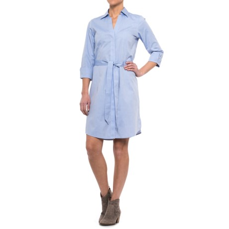 Foxcroft Taylor Non-Iron Shirtdress - 3/4 Sleeve (For Women)