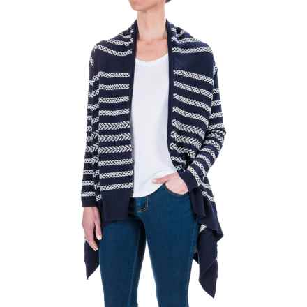 Foxcroft Violet Cardigan Sweater - Open Front (For Women) in Navy - Closeouts