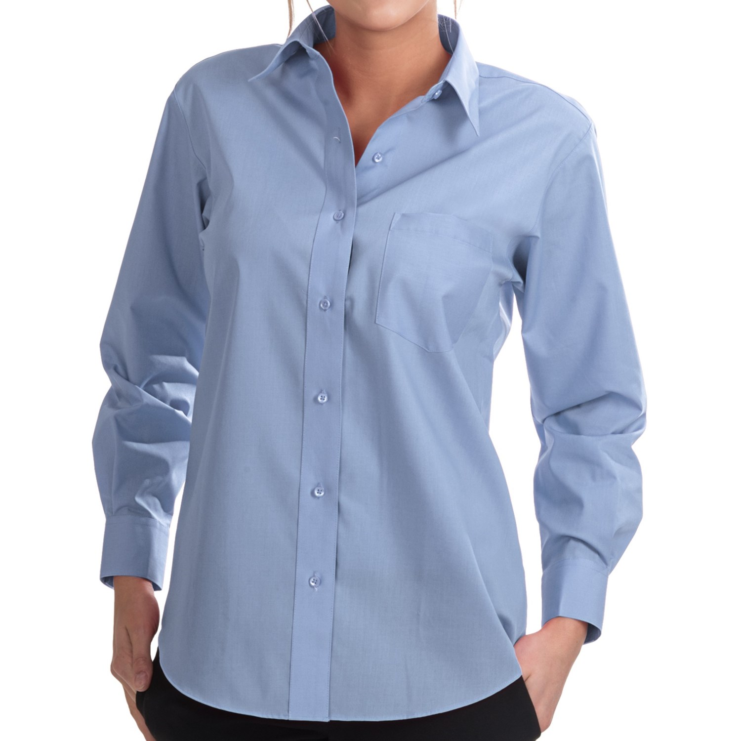 foxcroft wrinkle free essentials shirt long sleeve for