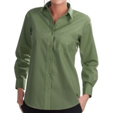 Foxcroft Wrinkle-Free Essentials Shirt - Long Sleeve (For Women) in Light Bayleaf - Closeouts
