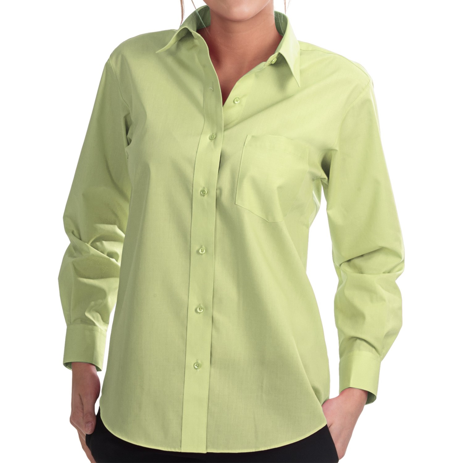Foxcroft wrinkle free essentials shirt long sleeve for Wrinkle free shirts for women