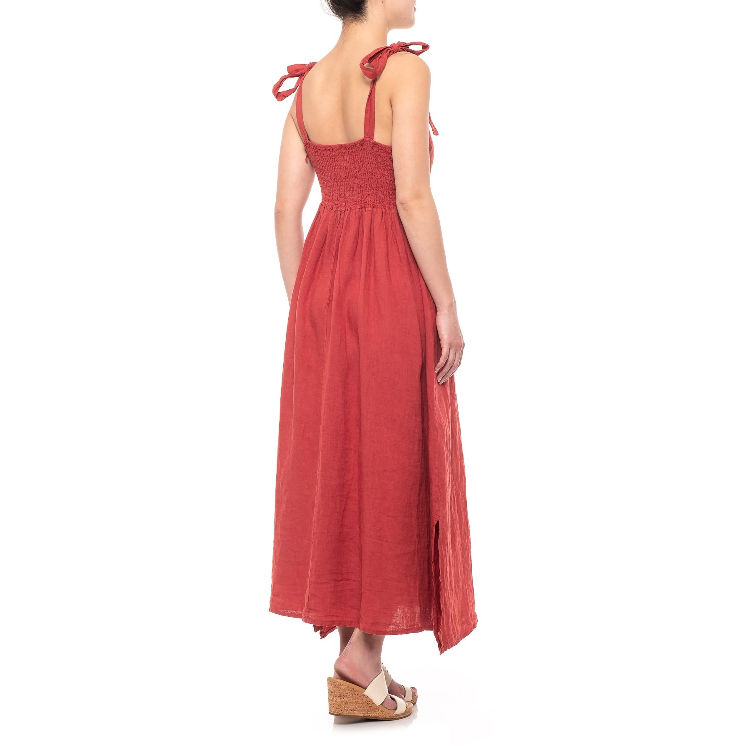 2596f55e0c5547 Francesca Bettini Made in Italy Brick Shoulder Tie Midi Dress (For ...