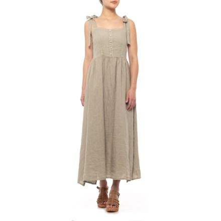 985a1e838e630 Francesca Bettini Taupe Italian Shoulder Tie Midi Dress - Sleeveless (For  Women) in Taupe