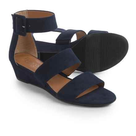 Franco Sarto Ankle Strap Sandals - Wedge Heel (For Women) in Midnight Fuschia - Closeouts