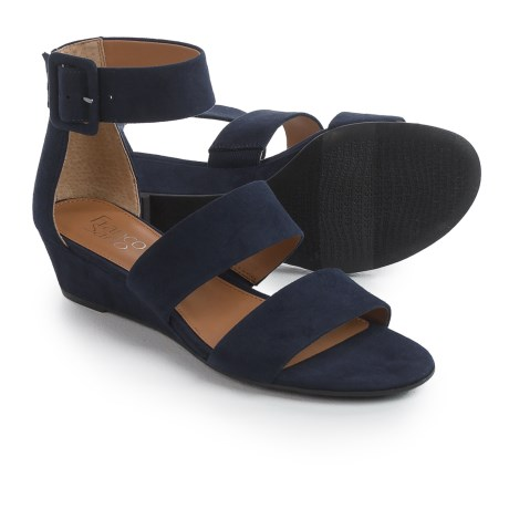 Franco Sarto Ankle Strap Sandals - Wedge Heel (For Women) in Midnight Fuschia