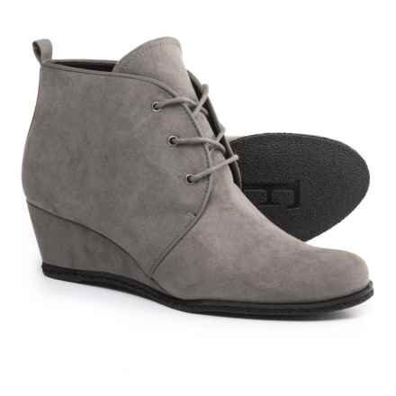 Franco Sarto Annabelle Ankle Boots - Wedge Heel (For Women) in Charcoal Grey - Closeouts