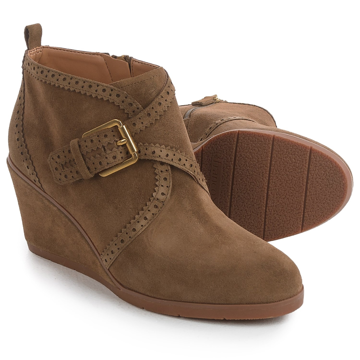 Franco Sarto Arielle Boots - Suede, Wedge Heel (For Women) in Desert Khaki - Franco Sarto Arielle Boots (For Women) - Save 45%
