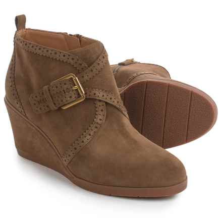 Franco Sarto Arielle Boots - Suede, Wedge Heel (For Women) in Desert Khaki Suede - Closeouts