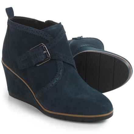 Franco Sarto Arielle Boots - Suede, Wedge Heel (For Women) in Navy Suede - Closeouts