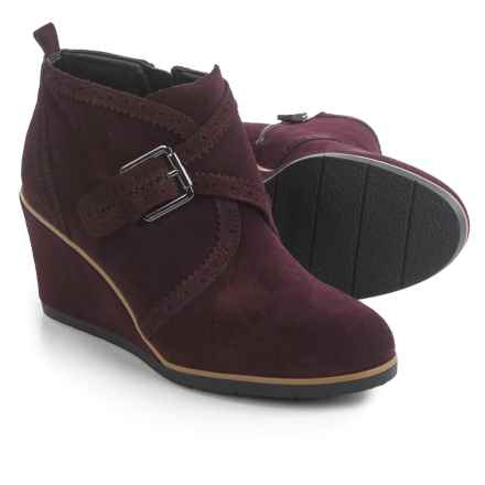 Franco Sarto Arielle Boots - Suede, Wedge Heel (For Women) in Port Wine Suede - Closeouts