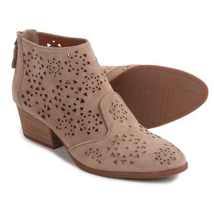 Franco Sarto Ashley Ankle Boots - Suede (For Women) in Beige - Closeouts