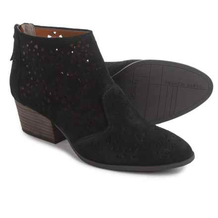 Franco Sarto Ashley Ankle Boots - Suede (For Women) in Black Suede - Closeouts
