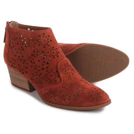 Franco Sarto Ashley Ankle Boots - Suede (For Women) in Cognac Suede - Closeouts