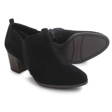 Franco Sarto Banner Ankle Boots - Leather (For Women) in Black Suede - Closeouts