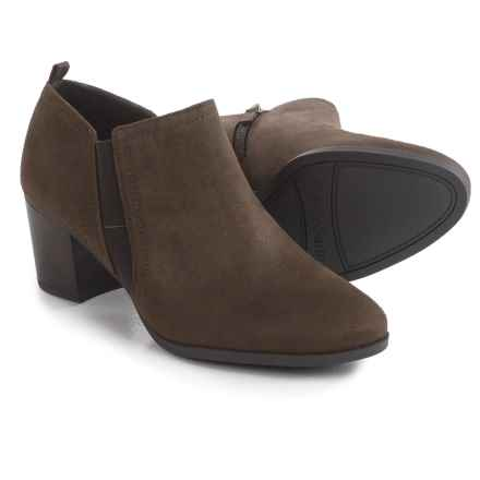 Franco Sarto Barrett Ankle Boots - Vegan Suede (For Women) in Dark Brown Fabric - Closeouts