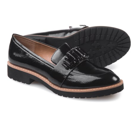 Franco Sarto Carver Jewel Lug Sole Shoes - Slip-Ons (For Women) in Black