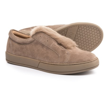 Franco Sarto Crescent Fur Shoes - Suede, Slip-Ons (For Women) in Cocco