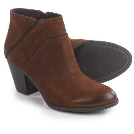 Franco Sarto Domino Ankle Boots - Suede (For Women) in Tan Leather - Closeouts