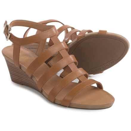 Franco Sarto Doretta Sandals - Leather, Wedge Heel (For Women) in Tan - Closeouts