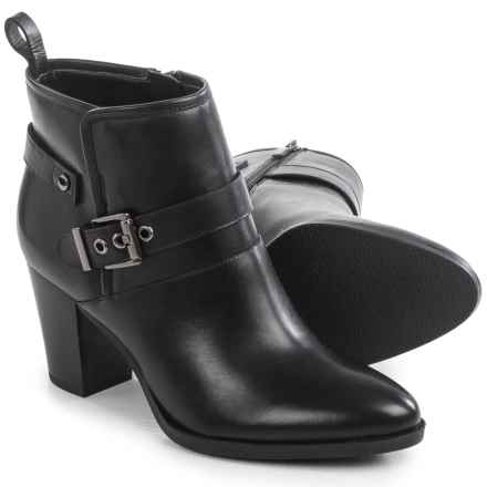 Franco Sarto Dorinda Ankle Boots - Leather (For Women) in Black - Closeouts