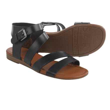 Franco Sarto Genji Sandals - Leather (For Women) in Black - Closeouts