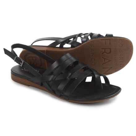Franco Sarto Gillian Sandals - Vegan Leather (For Women) in Black - Closeouts