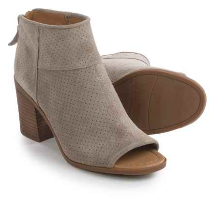 Franco Sarto Goldie Ankle Boots - Suede (For Women) in Coco - Closeouts
