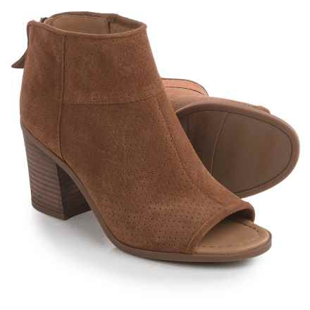 Franco Sarto Goldie Ankle Boots - Suede (For Women) in Whiskey - Closeouts