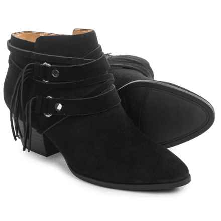Franco Sarto Gonzalez Western Ankle Boots - Suede (For Women) in Black - Closeouts