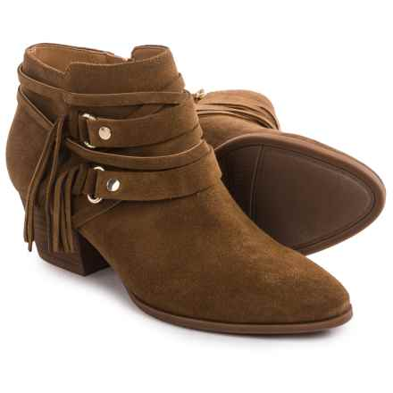 Franco Sarto Gonzalez Western Ankle Boots - Suede (For Women) in Cognac - Closeouts