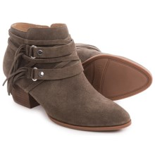Franco Sarto Gonzalez Western Ankle Boots - Suede (For Women) in Nutty Taupe - Closeouts