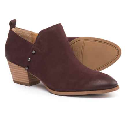 Franco Sarto Graham Booties - Nubuck (For Women) in Burgundy - Closeouts