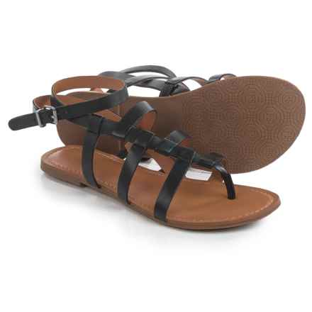 Franco Sarto Jamille Gladiator Sandals - Leather (For Women) in Black - Closeouts