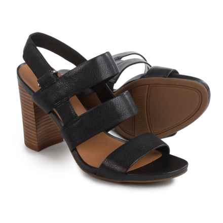 Franco Sarto Jena Sandals - Leather (For Women) in Black - Closeouts
