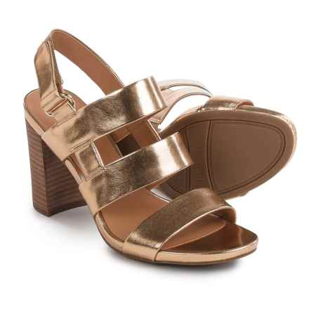Franco Sarto Jena Sandals - Leather (For Women) in Warm Gold - Closeouts