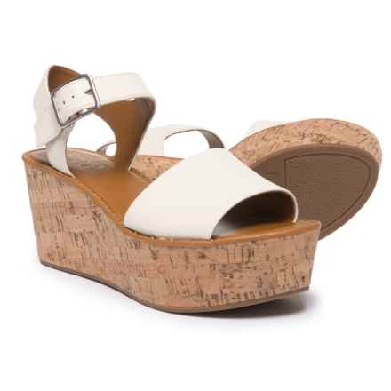 Franco Sarto Julius Wedge Sandals - Leather (For Women) in Milk - Closeouts