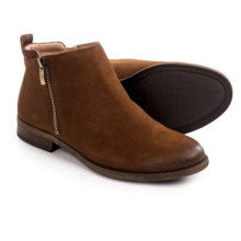 Franco Sarto Keegan Ankle Boots - Side Zip (For Women) in Tan - Closeouts