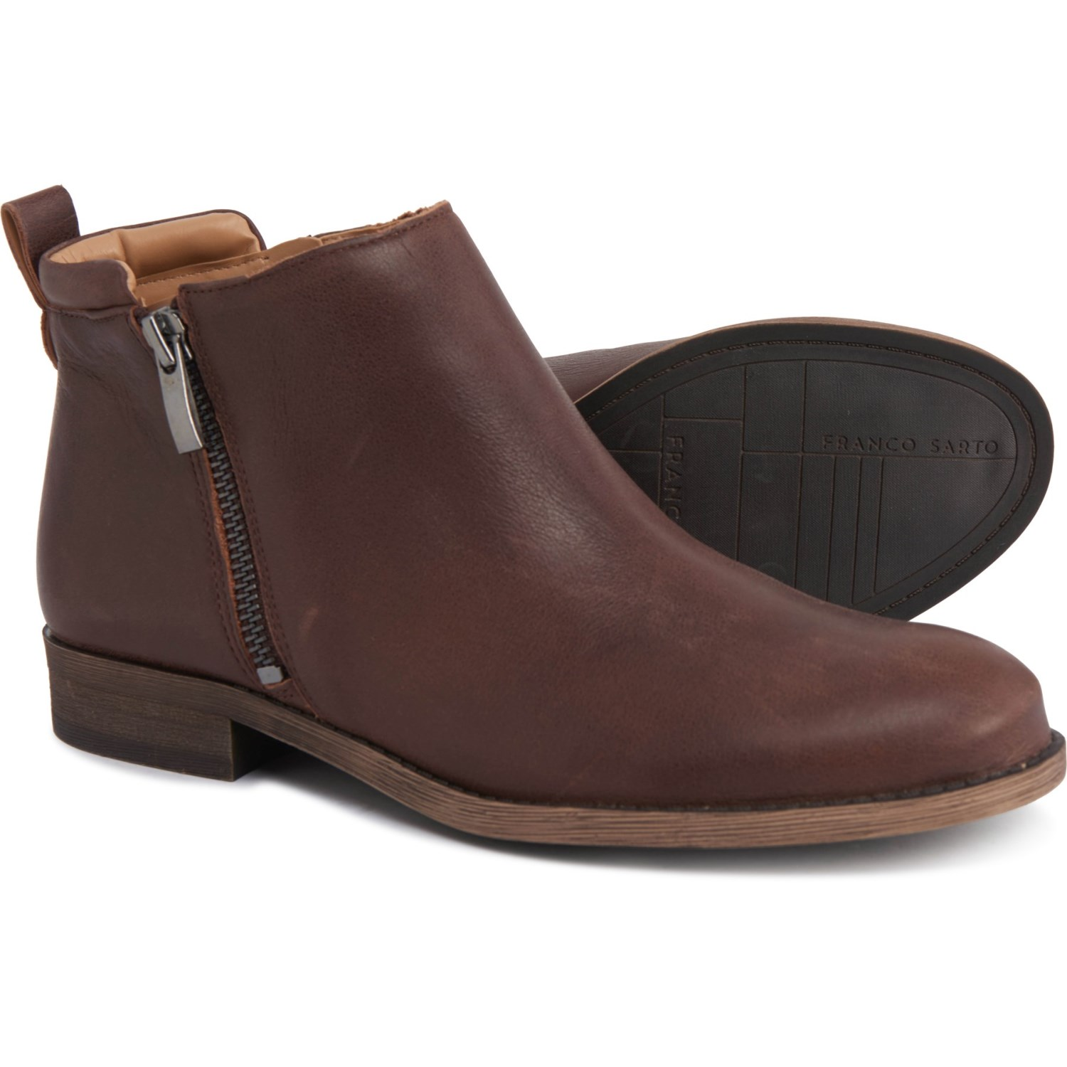new list offer discounts hot sales Franco Sarto Keegan Double-Zip Leather Ankle Boots (For Women ...