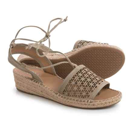 Franco Sarto Libby Espadrille Sandals - Suede (For Women) in Tan - Closeouts