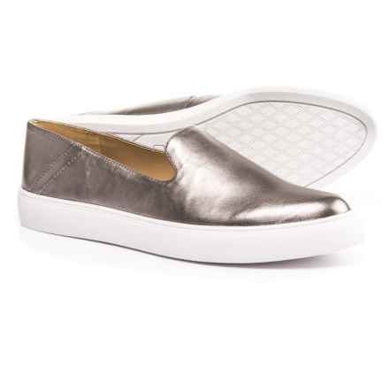 Franco Sarto Mitchell Shoes - Metallic Leather (For Women) in Pewter - Closeouts
