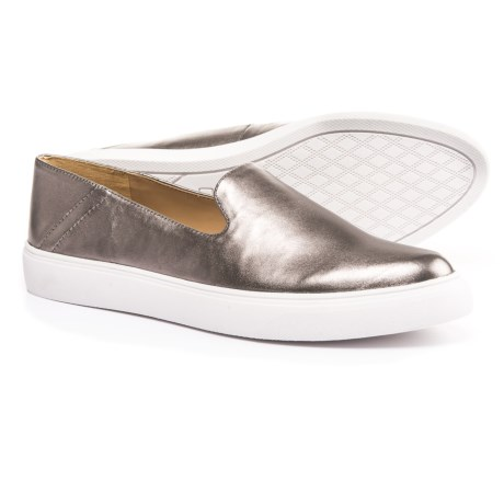 Franco Sarto Mitchell Shoes - Metallic Leather (For Women) in Pewter