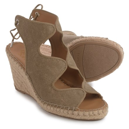 2985b5abfcee Franco Sarto Nash Wedge Sandals - Suede (For Women) in Gold - Closeouts