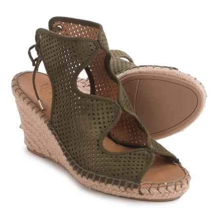 Franco Sarto Nash Wedge Sandals - Suede (For Women) in Sage - Closeouts