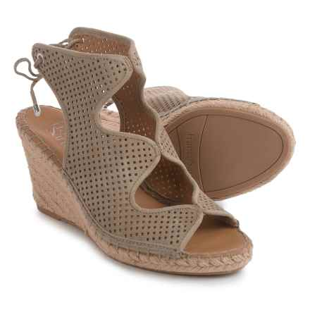 Franco Sarto Nash Wedge Sandals - Suede (For Women) in Taupe - Closeouts